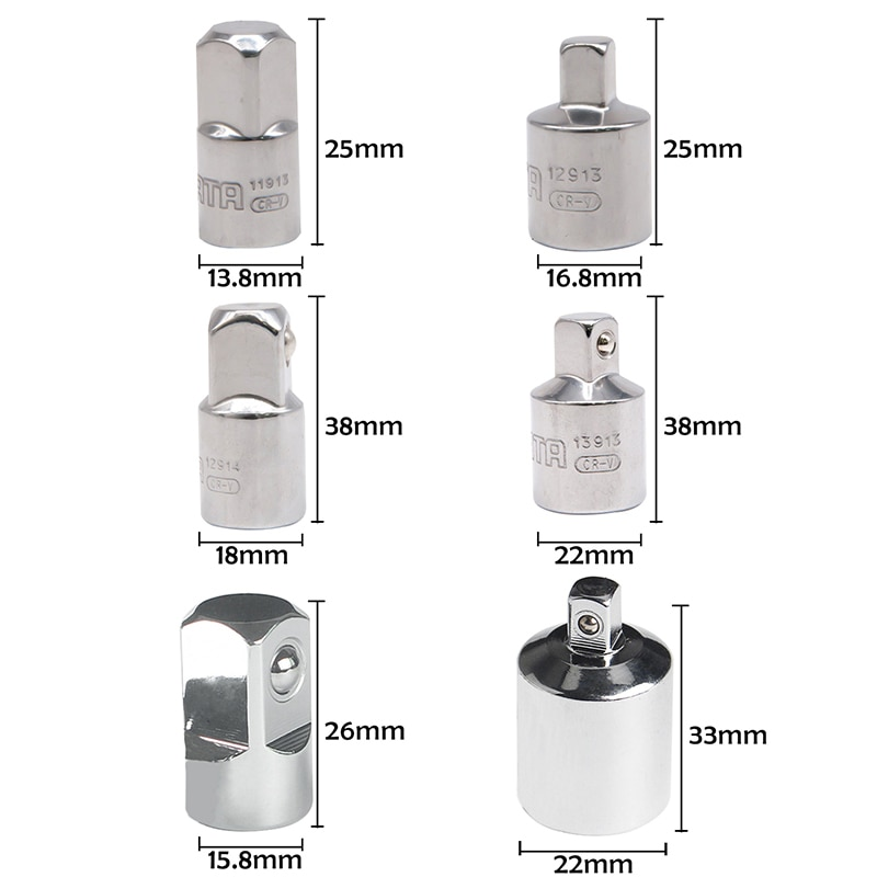Adattatore per chiave a cricchetto 1/4 3/8 1/2 pollici adattatore per - Utensili manuali - Fotografia 3