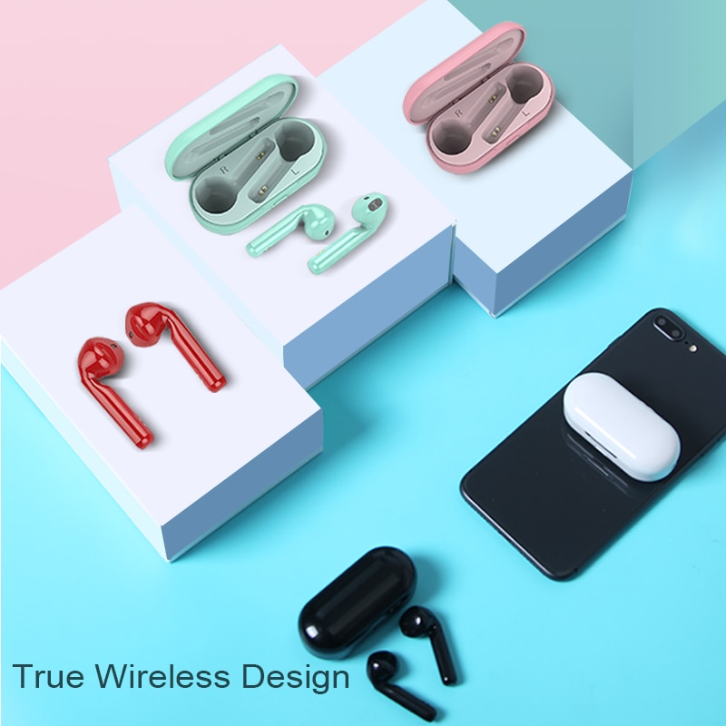 TWS Bluetooth Earphone In-Ear Sports Wireless Headphone Stereo Earbuds Headset With Microphone Charging Box For All Smart Phone