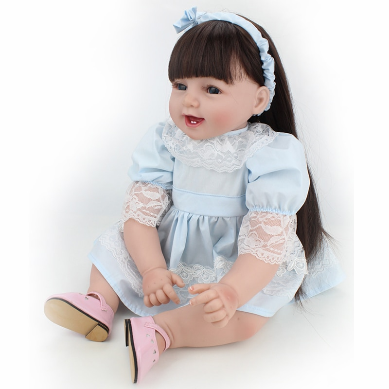 55cm LOL With Teeth Reborn Baby Doll Realistic Silicone Vinyl Doll Princess Toddler Babies Dolls Toy For Girls Birthday Gift