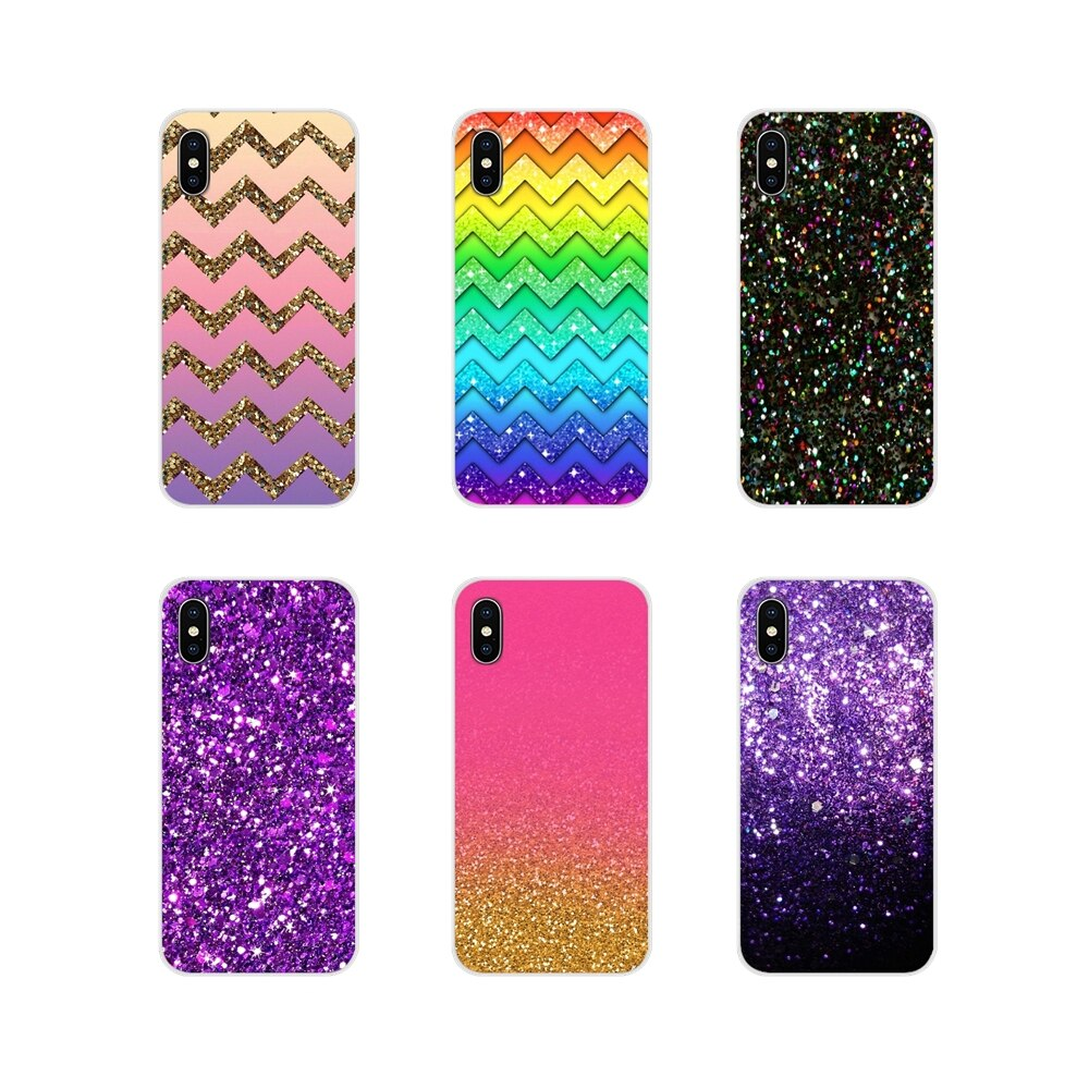 Para Samsung Galaxy S2 S3 S4 S5 Mini S7 S6 Edge S8 S9 S10E Lite Plus funda transparente suave cubierta de cristal de diamante brillante colorido