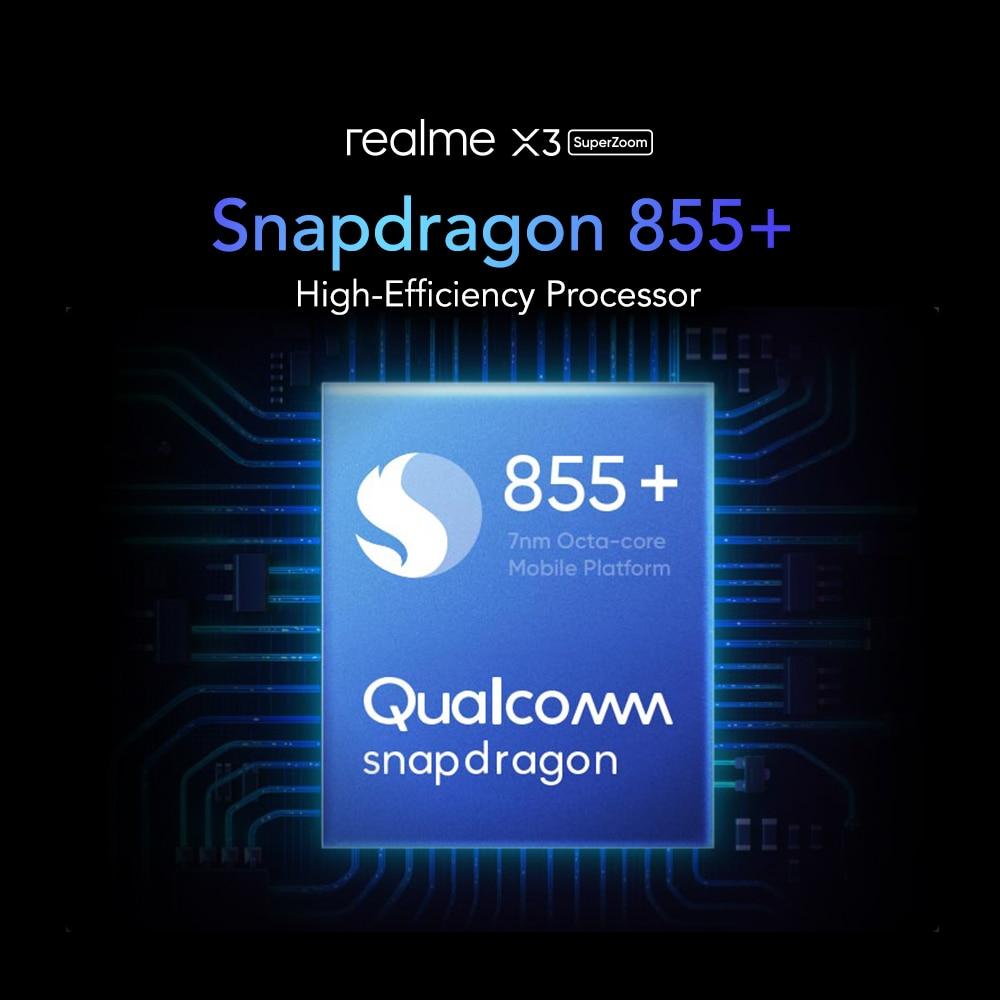 Фото3 - Realme X3 мобильный телефон Глобальная версия суперзум 8 ГБ 128 Snapdragon 855 + 120 Гц Дисплей 64-мегапиксельная четырехъядерная камера UFS 3,0 NFC 30 Вт Зарядно...