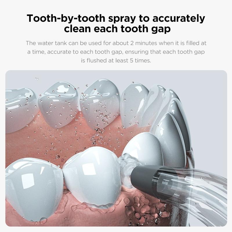 Oclean W1 Monddouche Draadloze Water Flosser Tanden Cleaner Oplaadbare Tandheelkundige Waterstraal 30Ml Tank Volume Draagbare enlarge
