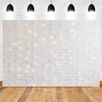 photography white brick wall background for photocall flashing glitter lights children baby birthday portrait photo backdrop