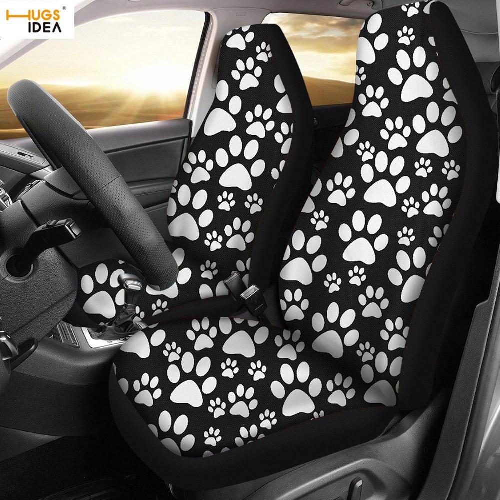 Hugside جميل القط الكلب هريرة الكفوف طباعة سيارة/غطاء مقعد السيارة مرونة الألياف SUV الداخلية لوحة تزيين حصيرة لحفظ المعقد الأتوماتيكي