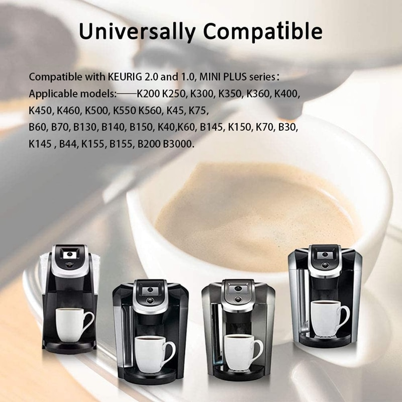 4Pack Reusable K Cups for Keurig 2.0 and 1.0 MINI PLUS Brewers Universal Easy to Use and with Coffee Brush and Spoon enlarge
