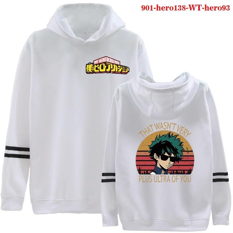 2021 New Fashion Boku No Hero Academia Hoodies Harajuku Women Clothes Casual Sweatshirt Oversized Hoodie Female Winter