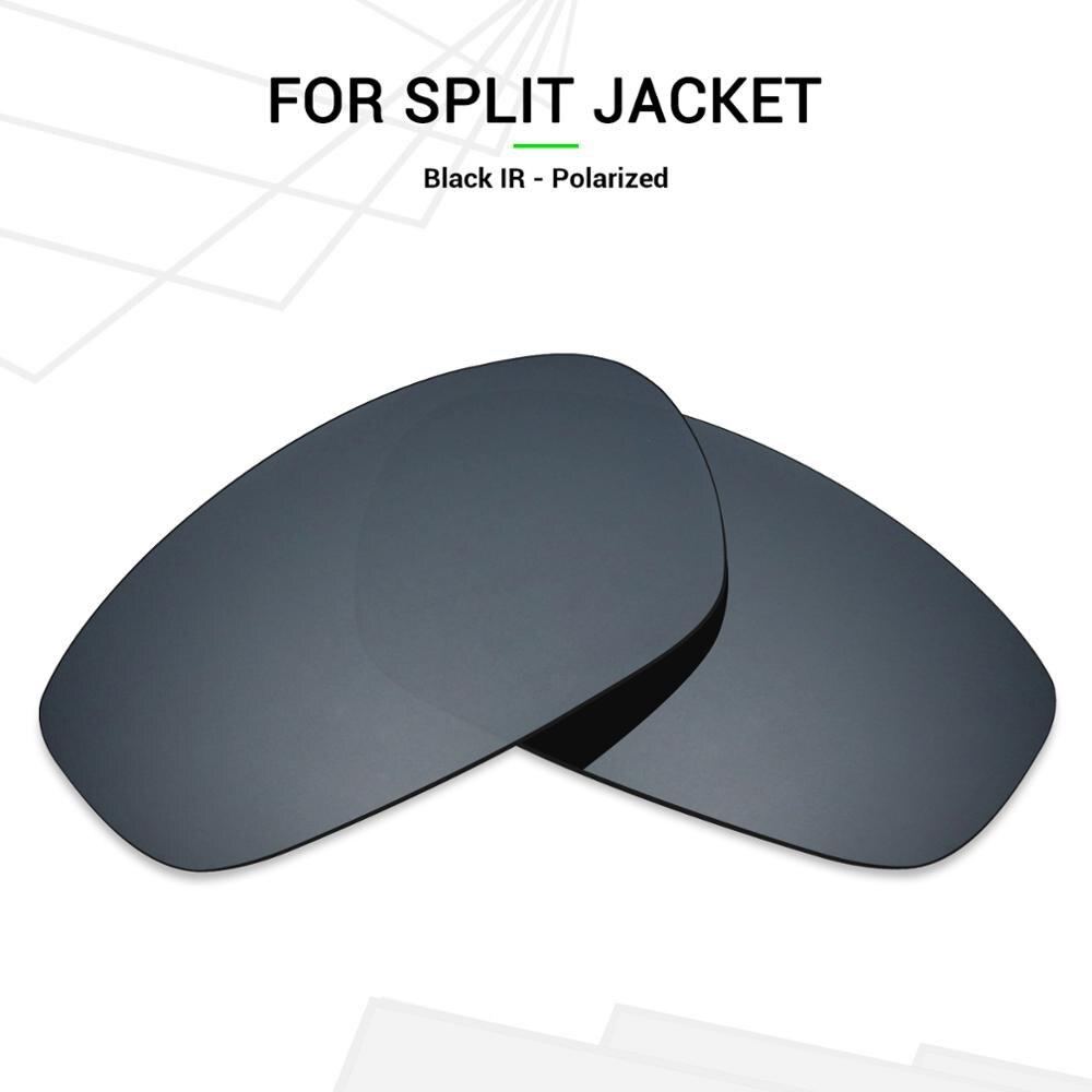 Lentes de repuesto polarizadas Mryok para Oakley, chaqueta dividida, gafas de sol, negro IR