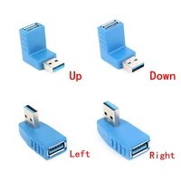 1pc 90 degree left right angled usb 3 0 a male to female adapter connector for laptop pc