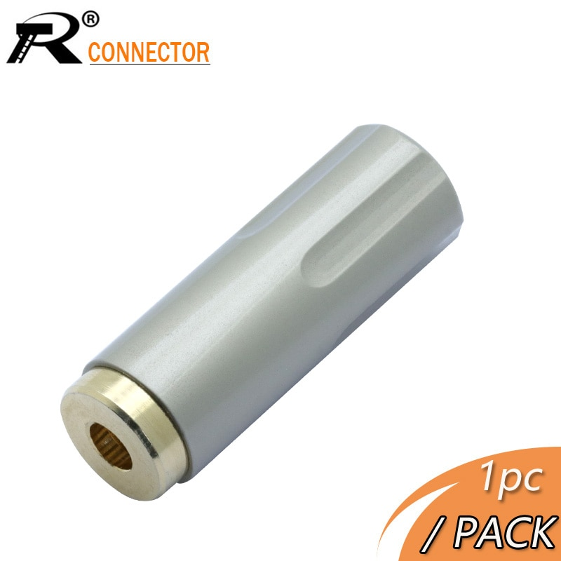 Chapado en oro de 1pc 3,5mm Jack hembra de 3 polos conector de 24K cobre enchufe de auriculares para DIY auriculares reparación apto para 6mm Cable