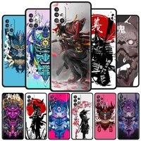 soft funda for samsung galaxy a50 a51 a70 a71 a21s a12 a31 a10 a20e a20s a30 a40 tpu case phone cover samurai japan