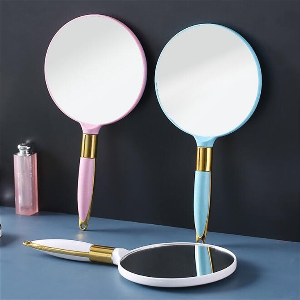 Vintage Handheld Makeup Mirror Vanity Mirror Hand Mirror SPA Salon Makeup Vanity with Handle Cosmeti