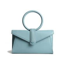 Fashion small bag 2020 ladies luxury niche circle bag ring handbag messenger bag imported cowhide en