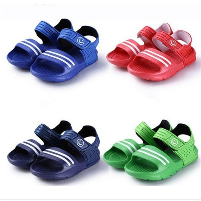 Baby Kids Boys Girls Summer Beach Sandals Shoes Toddler Children Casual Closed Toe Beach Pool Flat S