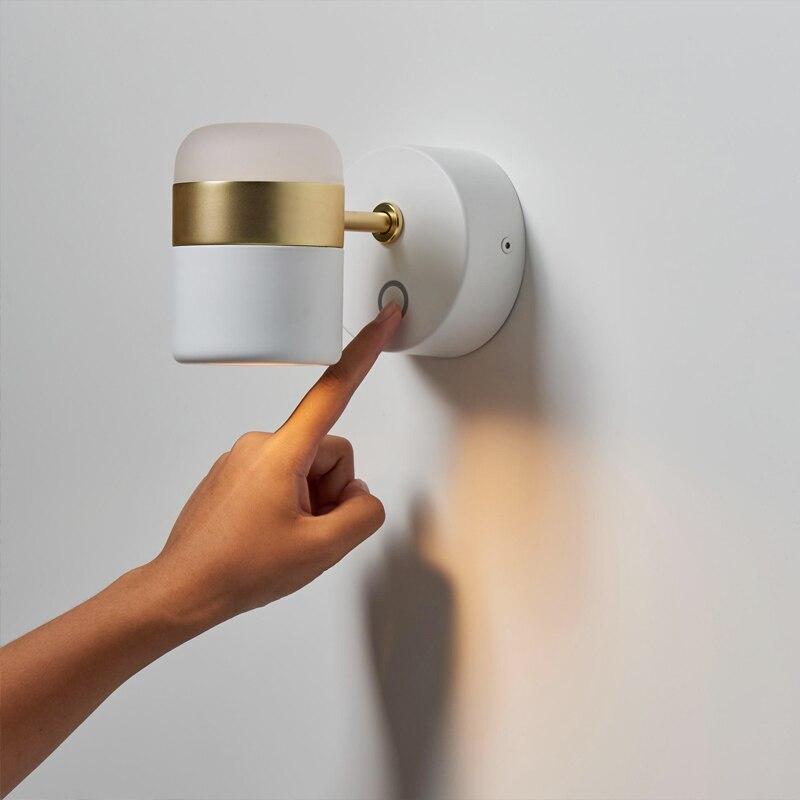 LED الدورية الجدار مصباح الحديثة بسيطة المعادن جدار مصابيح غرفة المعيشة قوس ضوء دراسة أضواء غرفة نوم الممر الإضاءة مع التبديل