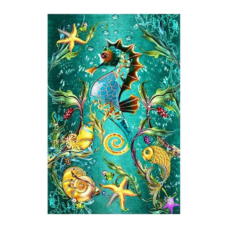 PROMOCIÓN. Diy bordado de diamantes cuadrados completos 5d pintura mar caballo Cruz puntada, imágenes de diamantes de imitación de la decoración
