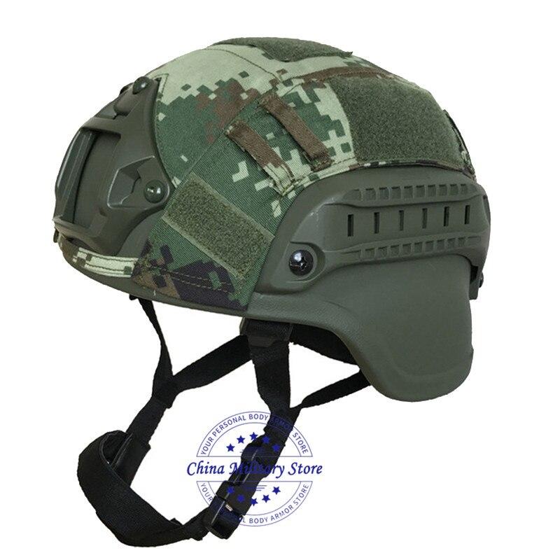 Casco a prueba de balas OD MICH 2000 nivel NIJ IIIA protección de cabeza casco militar balístico de aramida