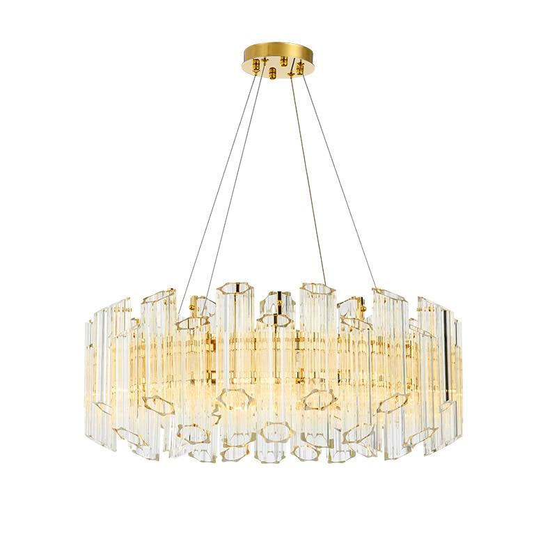 Lámpara de araña de cristal con colgante de tubo moderno de lujo de ciruela, lámpara para colgar, lámpara de suspensión para sala de estar y comedor