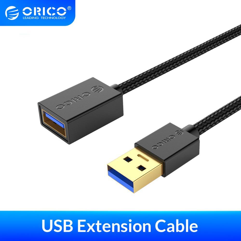 Удлинительный кабель ORICO USB 3,0 type-A, сверхскоростной удлинитель USB 3,0 для компьютера, ПК, жесткого диска