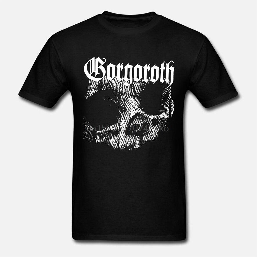 Nuevo Popular Gorgoroth calavera Death Metal Rock Band hombres negro camiseta S-3XL
