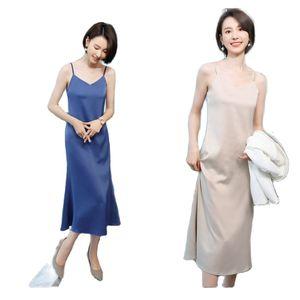 summer women's party dress sexy dress  autumn new sling skirt acetate elastic casual dress sexy nightclub V-neck  dress