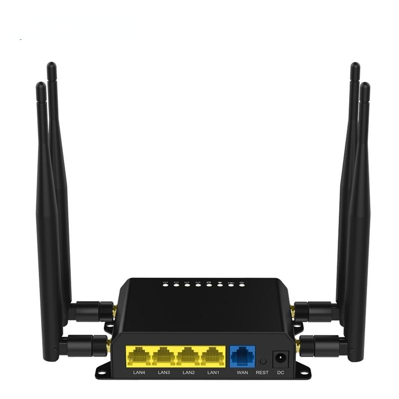 4G LTE Wifi Router Broadband Unlock 4G 3G with Sim Card Slot Mobile Hotspot WAN/LAN Port External SMA 5dBi detachable Antenna
