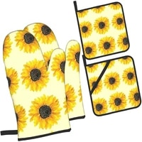 oven mitts%ef%bc%8csilicone oven mitts%ef%bc%8coven gloves%ef%bc%8ckitchen accessories%ef%bc%8c2pcs oven mitts%ef%bc%8cbaking gloves%ef%bc%8cheat resistant gloves 4 piece set