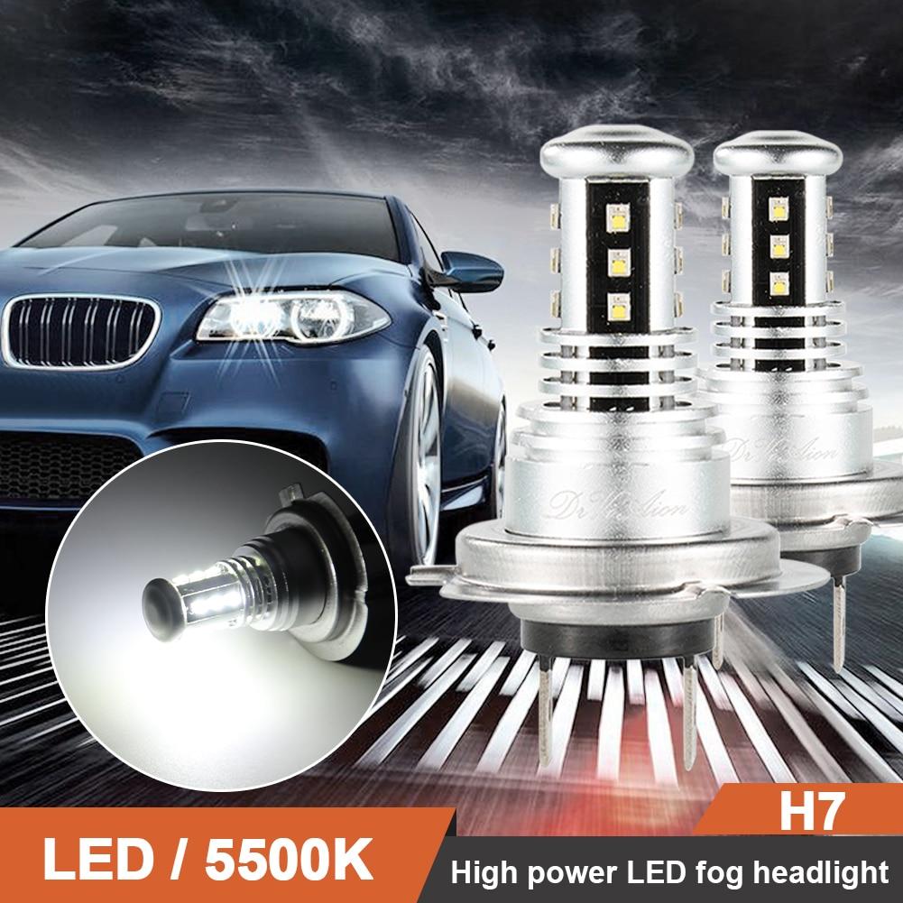 2pcs H7 Car COB LED Headlight Bulbs DC12-24V 9000LM 5500K White Auto High Low Beam Lamp honsco h7 24w 1800lm 5000k white light led high power car headlight kit dc12 18v 2 pcs