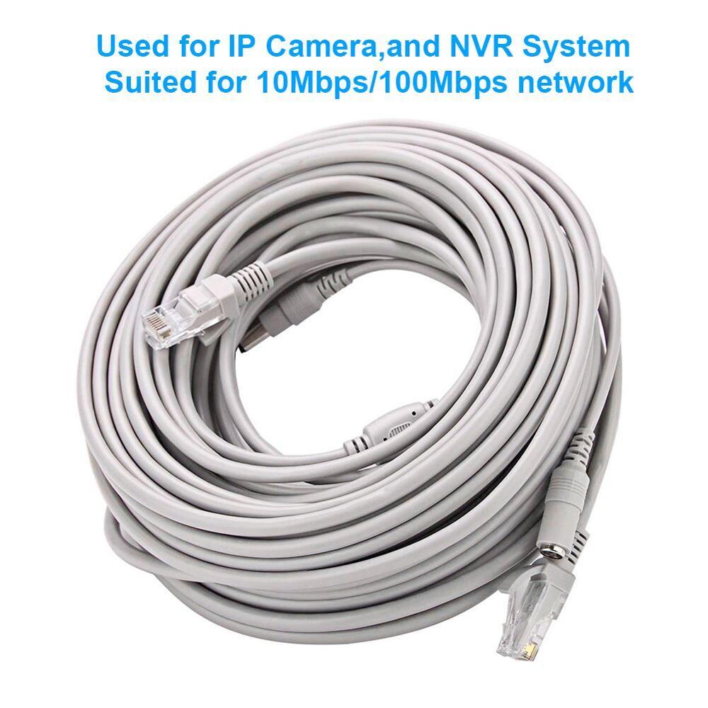 CCTV Cable RJ45 for video surveillance Camera Ethernet Internet Network DC Power 2 in 1 Extension Lan for DVR POE  IP Camera enlarge