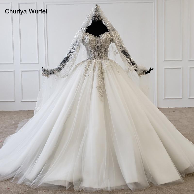 HTL1177-فستان زفاف بقصّة الأميرة ، بأكمام قصيرة مع ترتر لؤلؤي ، مجموعة جديدة 2020