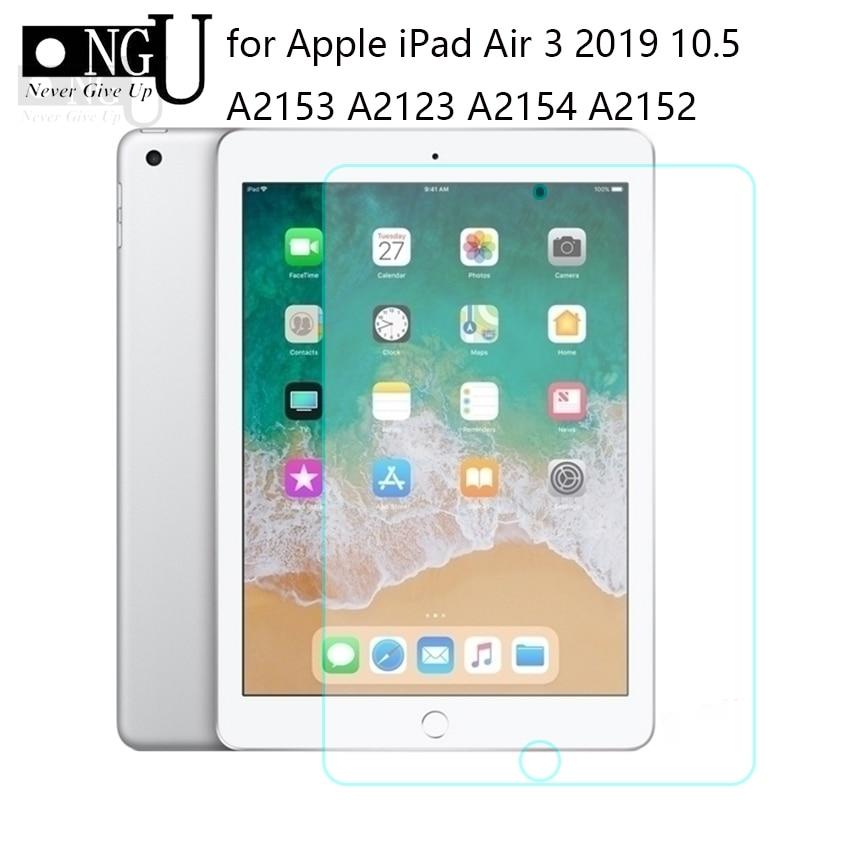 "Protetor de tela para apple ipad ar 2019 vidro temperado para ipad pro 10.5 ""2019 tela película protetora para ipad ar 3 vidro 9h"
