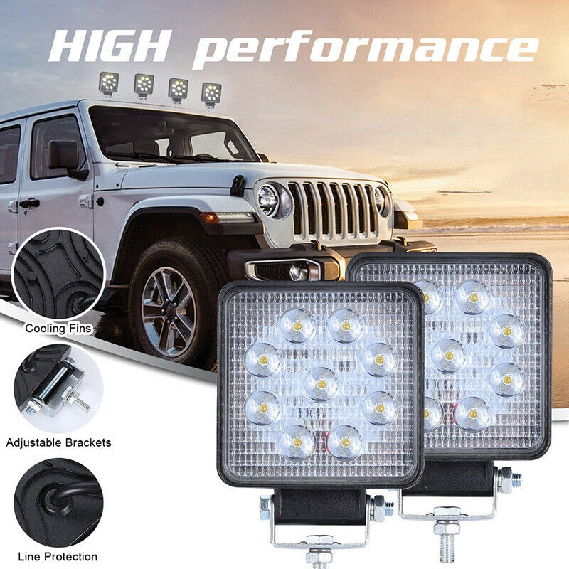 Barra de luz LED de Trabajo 27W Luz de coche haz brillante 12v 24v Led para Jeep ATV UAZ SUV 4WD 4x4 camión Tractor Luz de punto todoterreno