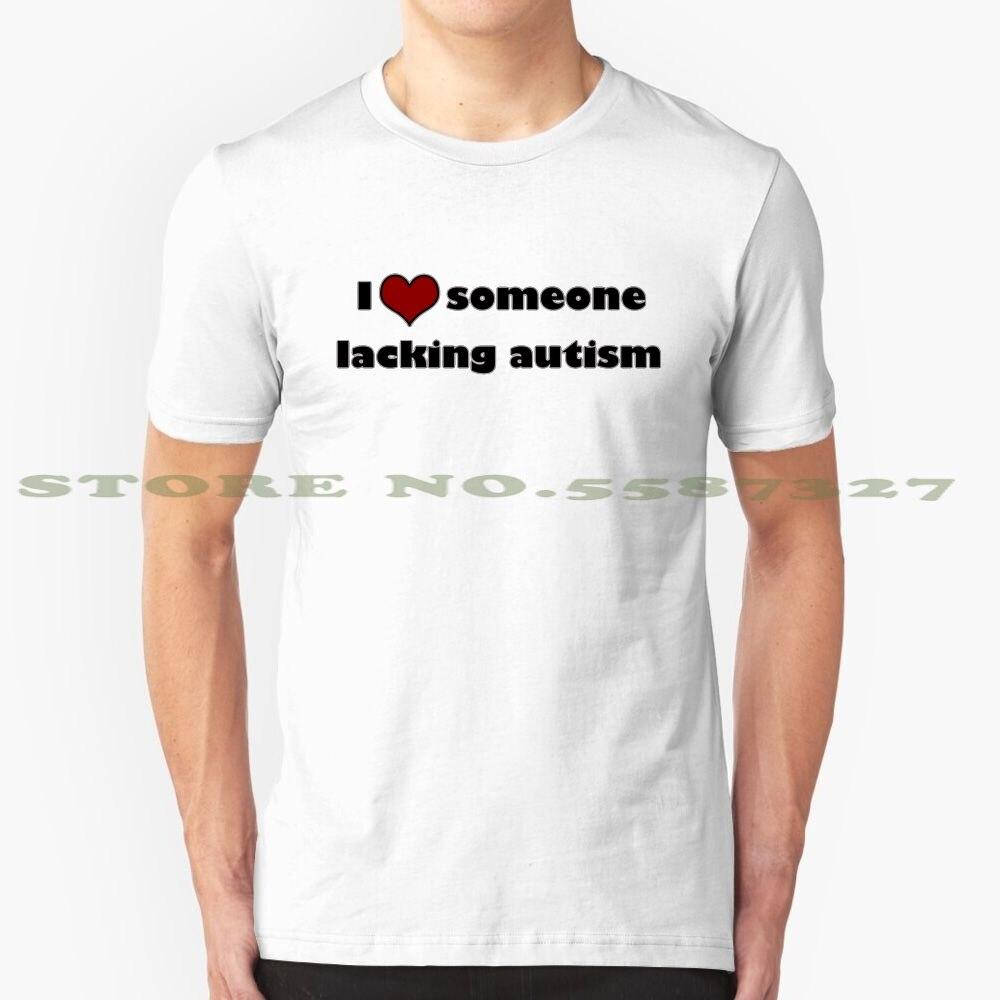 Eu <3 alguém faltando autismo moda vintage tshirt t camisas na verdade autista paródia sátira neurodiversidade autismo