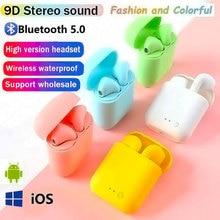 I12 Original TWS HD Call Bluetooth Earphones Wireless Sport Headset Stereo Waterproof Earbuds I7s He
