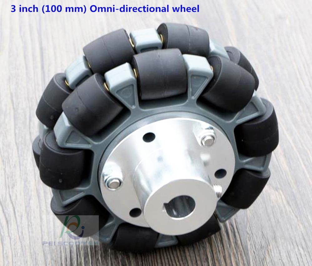 3-дюймовое (100 мм) всенаправленное колесо с соединительным валом pww-013