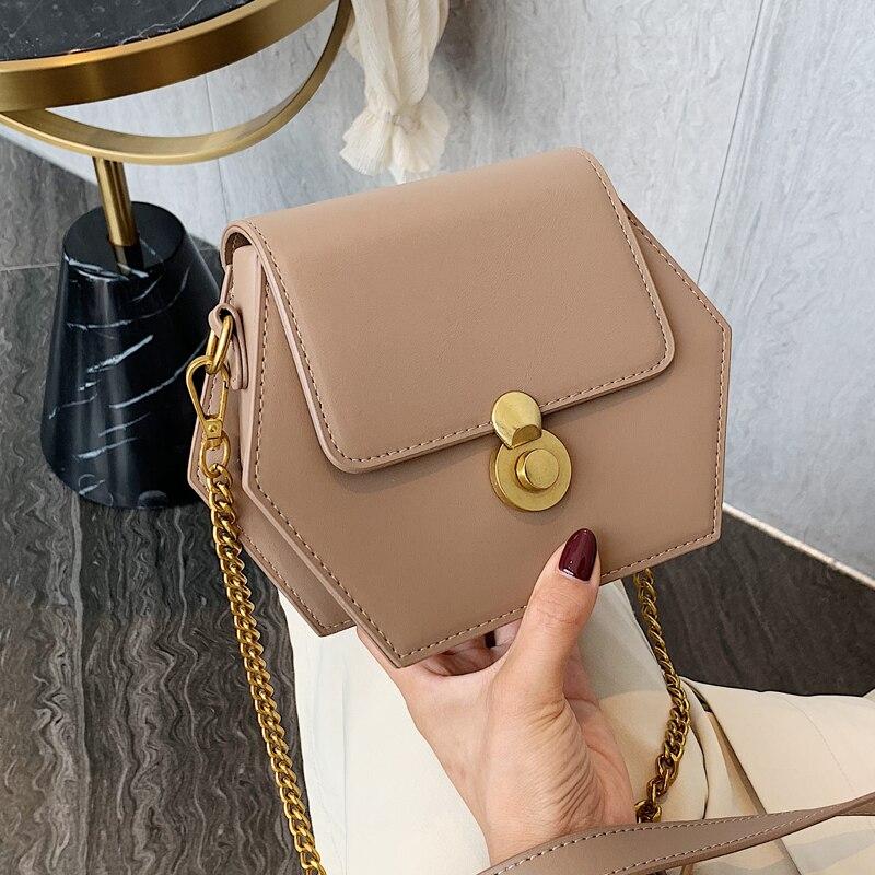 Британская мода женская сумка через плечо для женщин 2019 новая дизайнерская шикарная винтажная цепь пакет качественные кожаные сумки через плечо