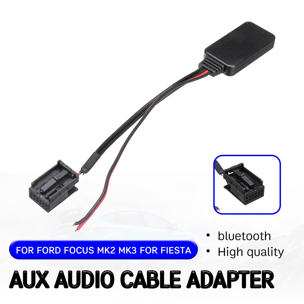 bluetooth Aux Receiver Cable Adapter for Ford for Focus Mk2 MK3 for Fiesta Audio Aux Head Unit Interface