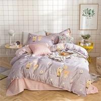 cartoon friends bedding set duvet cover set pillowcase home textiles 23pcs bed linen king queen size dropship