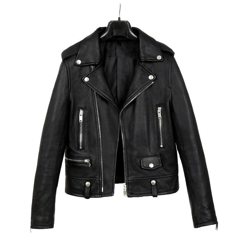 Leather jacket women spring autumn winter 2021 new Korean version of slim all-match student jacket jacket women coats enlarge