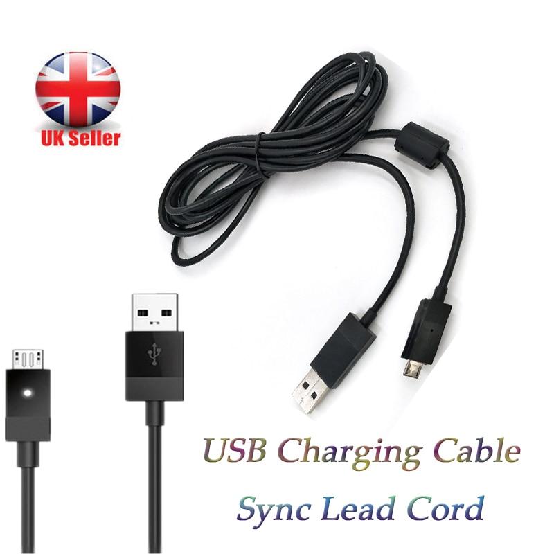Cable de alimentación de carga Micro USB de 2,75 metros para PS4,...