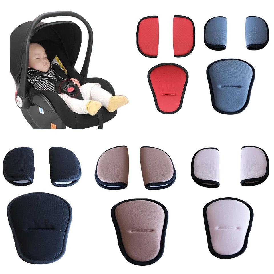 Накладки на ремень для детской коляски, Мягкие накладки на плечи, подушечки для детского автомобильного кресла, аксессуары для детской коля...
