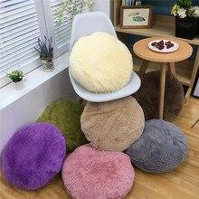 Скандинавские Ins 45 см чехол для подушки круглый плюс бархатный чехол для подушки толстый теплый диван подушка для кровати тканевая Подушка для украшения дома Автомобильная подушка