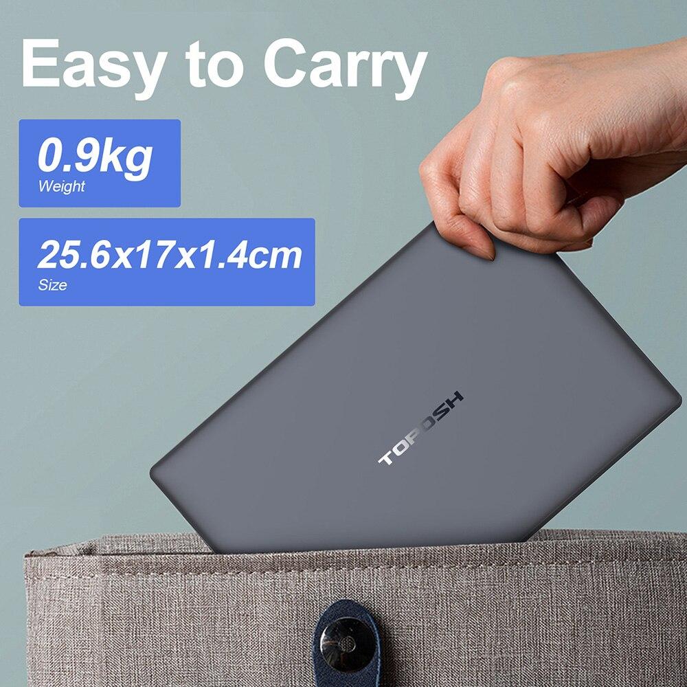 10.1'' Mini Metal Laptop Intel N4120 Quad Core 6GB RAM 128GB ROM Notebook PC 2.6GHz USB3.0 TF Card Port Slim Netbook Ultrabook