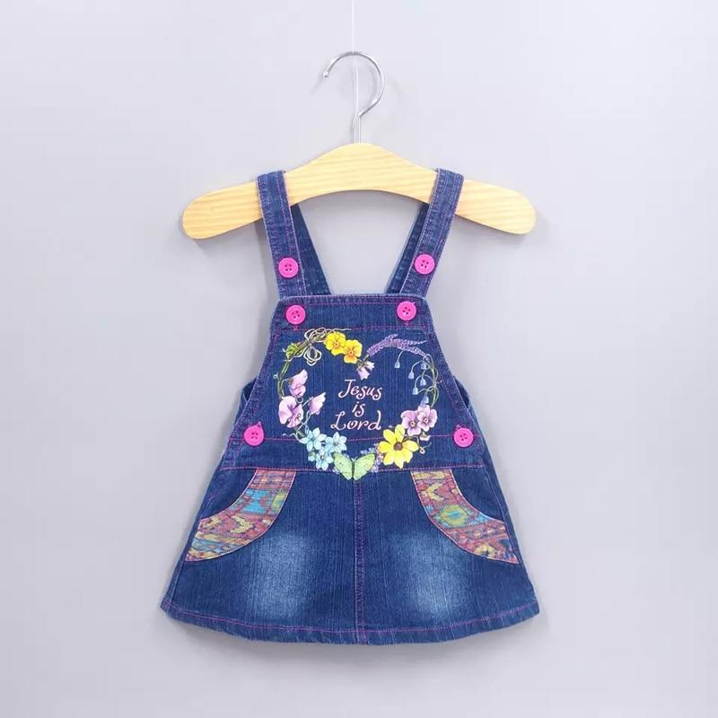 DIIMUU джинсовый сарафан для девочек, летняя одежда для малышей, Детские подтяжки с цветами, юбки для девочек, подходит для детей от 2 до 8 лет, подтяжки с цветами Юбки    АлиЭкспресс
