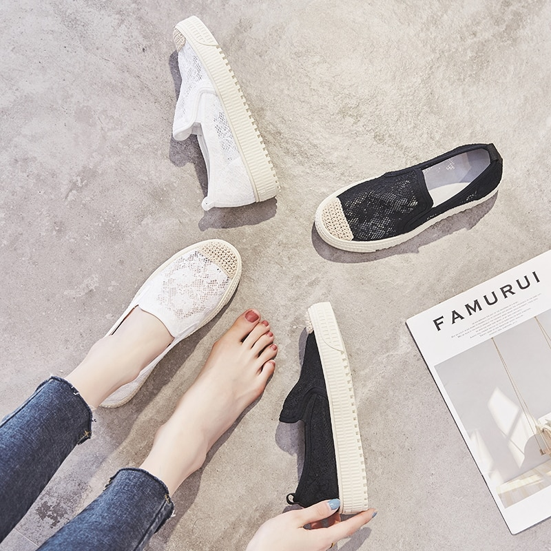 2021 Summer Shoes for Women Flat Shoes,White,black Shoes for Women,Casual,Comfort,Woven,Breathable,L