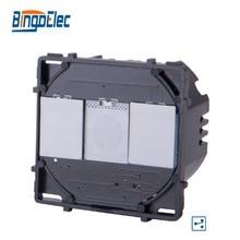 Bingoelec 2 Gang 2 Way Touch Funzione di Interruttore Della Luce Modulare Parte, Senza Pannello di Vetro, EU/UK Standard, Standard di Vendita Calda