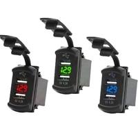 Универсальное автомобильное зарядное устройство 12 В, 24 В, 4,2 А, дисплей, автомобильный адаптер напряжения, водонепроницаемое зарядное устро...