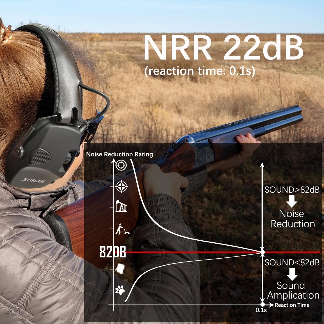 ZOHAN électronique tir oreille Protection son Amplification Anti-bruit cache-oreilles professionnel chasse oreille défenseur Sport de plein air