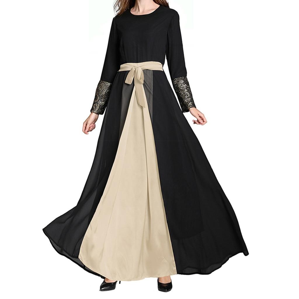 Мусульманское абайя платье элегантный кружевной кардиган с вышивкой халат кимоно Джаба Рамадан арабский турецкий исламский молитвенная о...