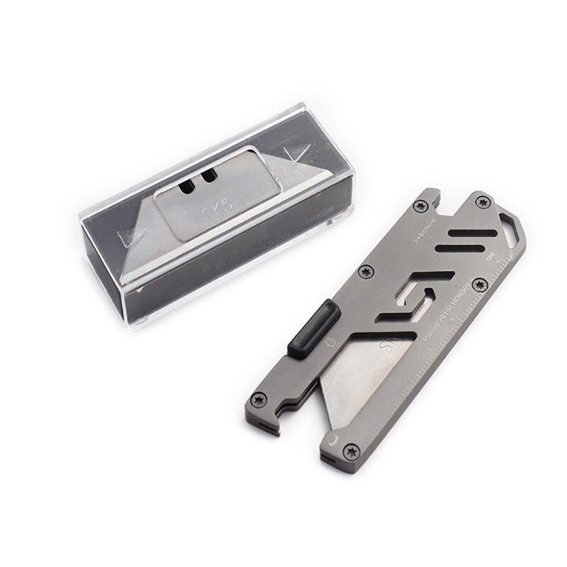 Cuchillo plegable EDC de acero inoxidable multifunción para cortar papel, cuchillo de mensajería, cuchillo Manual para exteriores, herramienta para pelar sacacorchos