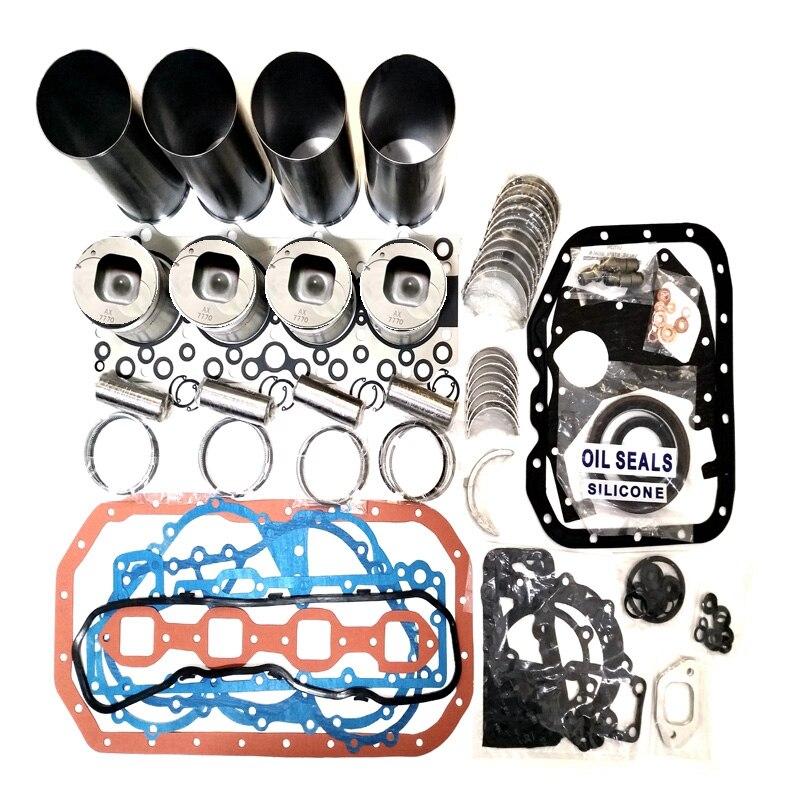 Para isuzu 4bd1 4bd1t motor diesel overhual peças de reparo pistão com anel pistão forro do cilindro kit junta completa kit rolamento principal